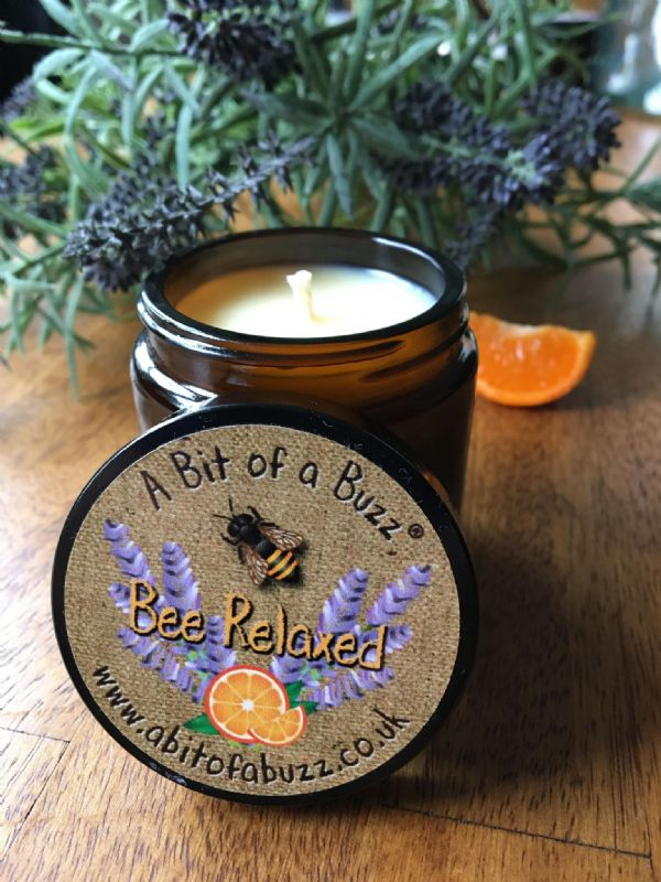 Lavender & Orange  Beeswax  Jar  Candle 120g